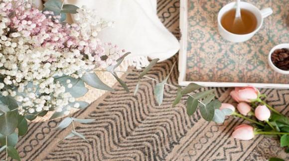 Calienta tus pies con alfombras